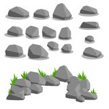 Set of object - stones. Natural background royalty free stock images