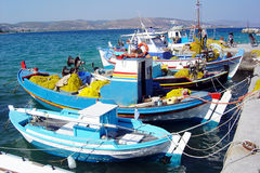 Greek boats stock photography