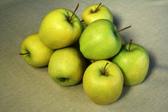 Group of green apples Stock Image