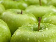 Group of green apples Stock Photos