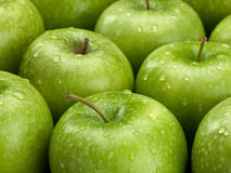 Group of green apples Royalty Free Stock Photos