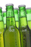 Group of Green Beer Bottles Stock Images