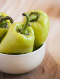 Group of green bell peppers Royalty Free Stock Images