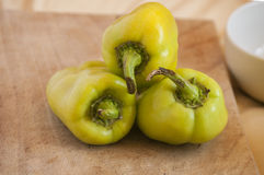Group of green bell peppers Royalty Free Stock Photo