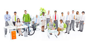 Group of Green Business Office Worker Stock Image