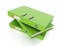 Group of green folders Royalty Free Stock Photos