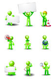 Group of  green humanoid Royalty Free Stock Image