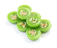 Group of green multiple scented sesame Stock Photos