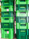 A group of green package boxes Stock Photography