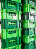 A group of green package boxes Stock Photos