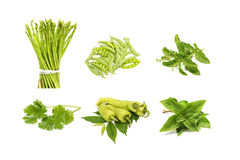 Group of green vegetable Royalty Free Stock Images
