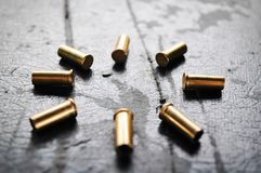 Shelling gun stock photo