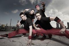 Group of guys. Wearing matching attire stock image