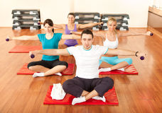 Group at the gym Stock Photos