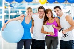Group of gym people Stock Images