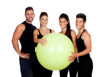 Group of gym people Stock Photos