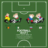 Group H Of 2014 Football (Soccer) Tournament. Group H Of 2014 Football (Soccer) Tournament Vector Illustration Royalty Free Stock Images