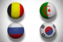 Group h footballs for world cup Stock Image