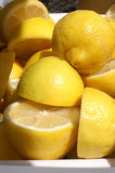 Group of Halved Lemons Royalty Free Stock Photos