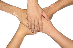 Group  hand. Royalty Free Stock Photo