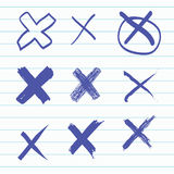 Group of Hand-drawn cross Royalty Free Stock Images