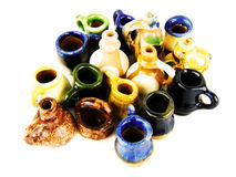 Handmade group pots Stock Images