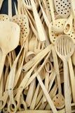 Boxwood cutlery view Stock Photos