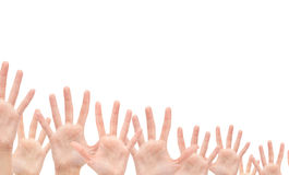 Group of Hands in the air Stock Photos