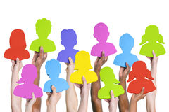 Group of Hands Avatar Bubble stock photo