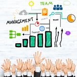 Business and teamwork concept Royalty Free Stock Photos