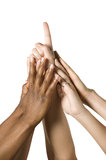 Group of Hands Coming Together Royalty Free Stock Image