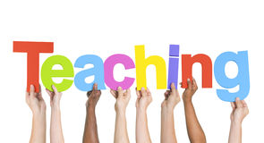 Group of Hands Holding Teaching Royalty Free Stock Photography