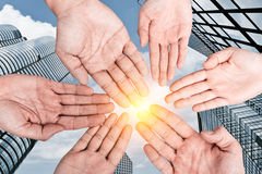 Group of hands Royalty Free Stock Photos