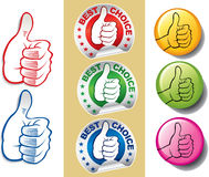 Group of hands with thumb up-best choice symbol Royalty Free Stock Image