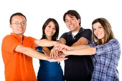 Group with hands together Royalty Free Stock Photography