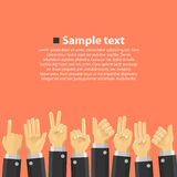 Group of hands in the top Stock Image