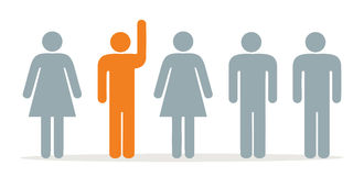 Group hands up royalty free illustration