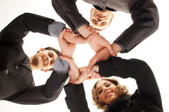 Group handshake with a lot of different hands Stock Photos