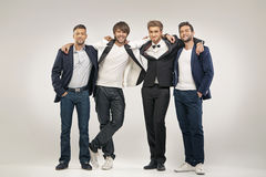 Group of handsome and elegant guys Royalty Free Stock Photo