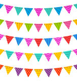 Group Hanging Bunting Party Flags Stock Image