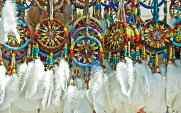 Group of Hanging Dream Catchers Royalty Free Stock Photo