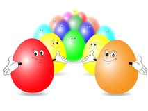 A group of happiest eggs Royalty Free Stock Photography