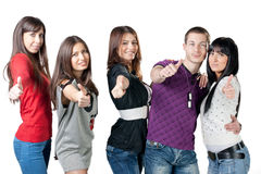 Group of happiness young people Royalty Free Stock Photo