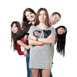 Group of happiness young people Stock Image