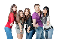 Group of happiness young people Royalty Free Stock Photography