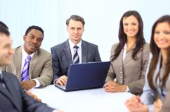 Group of happy business colleague Stock Photo
