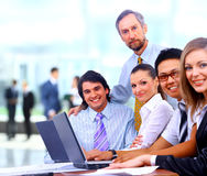 Group of happy business colleague Stock Image