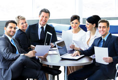 Group of happy business people royalty free stock image