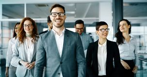 Group of happy business people royalty free stock photos
