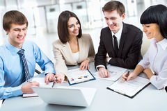 Group of happy business people Royalty Free Stock Photography